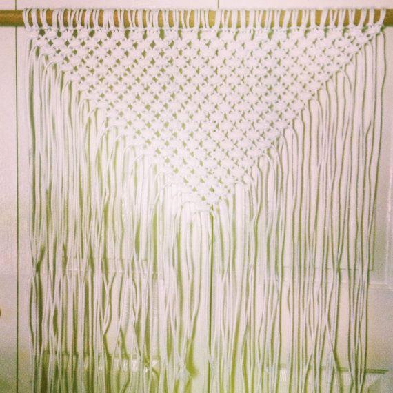 Custom Large Macrame Wall Hanging// Triangle Boho by EllaintheMoon