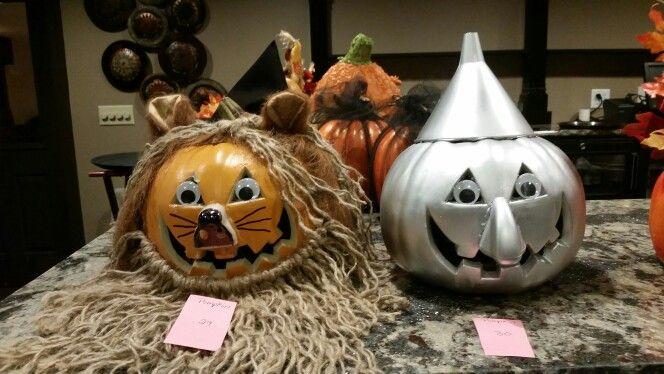 Tin Man And Cowardly Lion Jack O Lanterns Wizard Of Oz