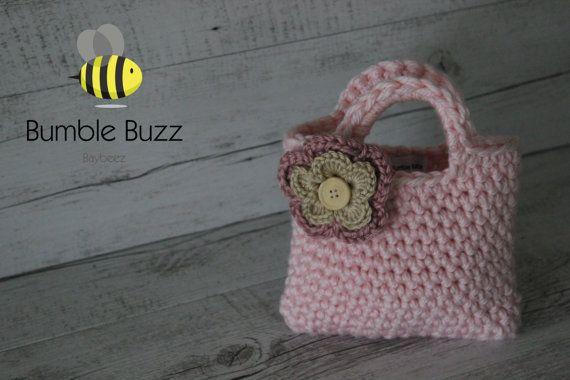 Born To Shop  Little Girls Purse / Handbag  by BumbleBuzzBaybeez