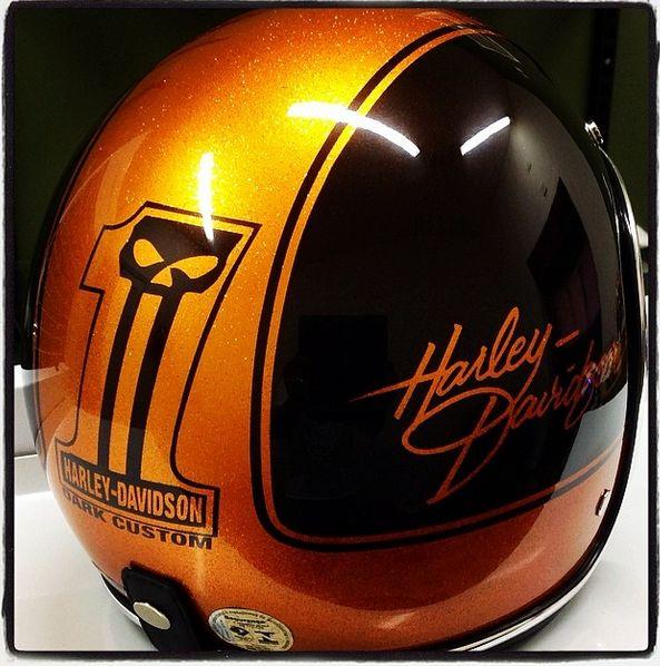 harley davidson half helmet, added to my collection of old school helmets.