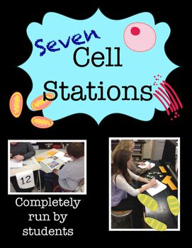 Cells, Cells, Cells!These completely student-run seven cell stations require approximately three class periods to complete. Aligned with the NGSS, these cell stations focus on these main ideas: levels of organization, structure and function of organelles, differences between plant and animal cells, and mitosis.Students will receive a packet to complete as they travel from station to station in groups.