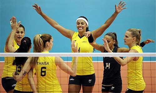 The Brazilian women's volleyball Olympic team