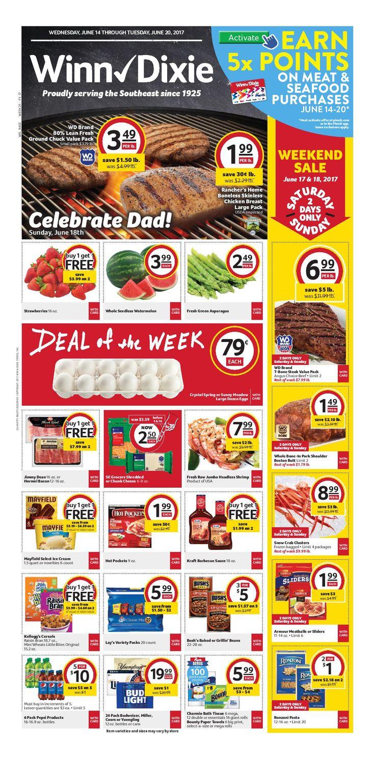 Winn Dixie Weekly Ad June 14 - 20, 2017 - http://www.olcatalog.com/grocery/winn-dixie-weekly-ad.html