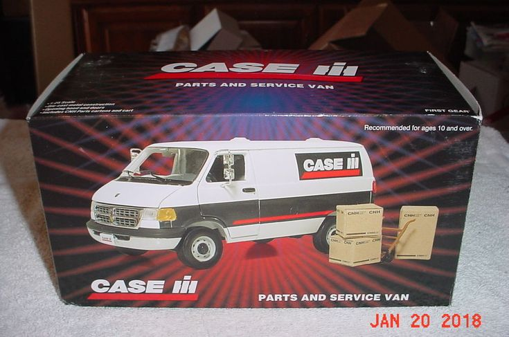 First Gear 2004 Dodge Ram Van Case IH Parts & Service Van 1/24 19-3193 #FirstGear #Dodge
