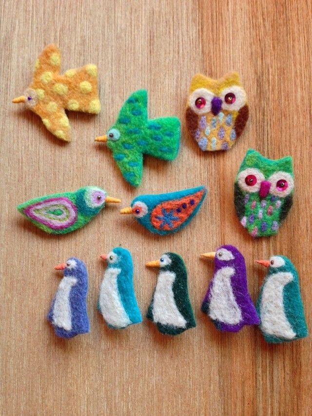 羊毛フェルトブローチ 鳥Aの画像4枚目                                                                                                                                                                                 もっと見る