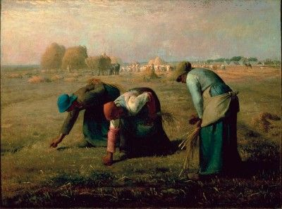 """Jean-Francois Millets """" The Gleaners"""" I've inherited my grandmother's photo of this .. I just dearly love it."""