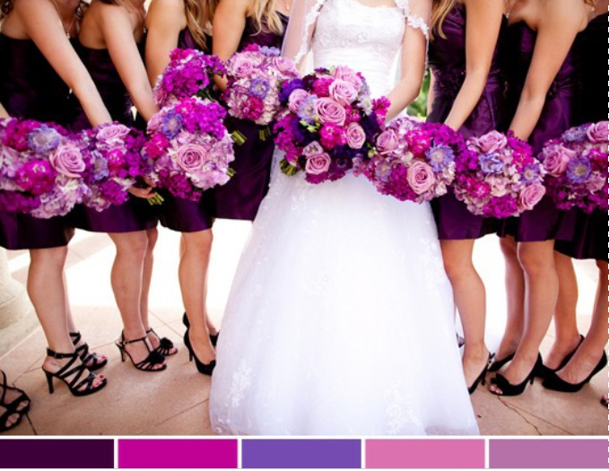 Lovely Purple Flowers But With Black Dresses