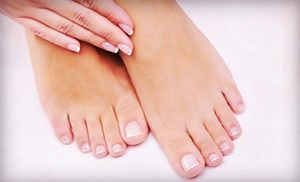 Groupon - One or Three Mani-Pedis at Broadway Nail & Spa (Up to 55% Off) in Greenwich Village. Groupon deal price: $47