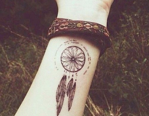 Tattoos And Their Meanings - Dream Catchers