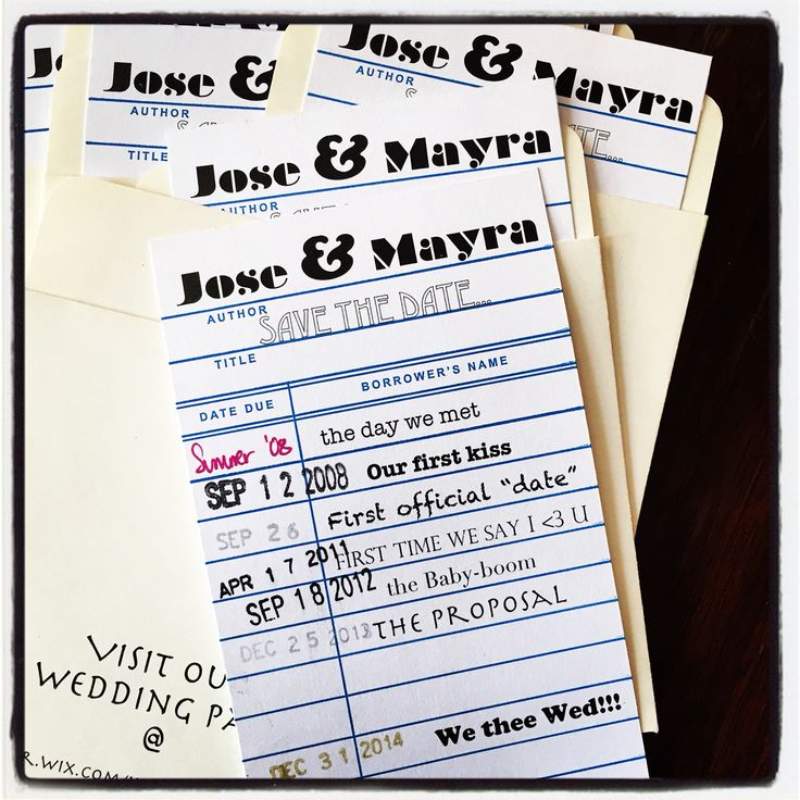 Save The Date! Playing With Fonts U0026 Making It Personal. Library Card Save  The Date. Find This Pin And More On Fun Non Traditional Wedding Invitation  Wording ...
