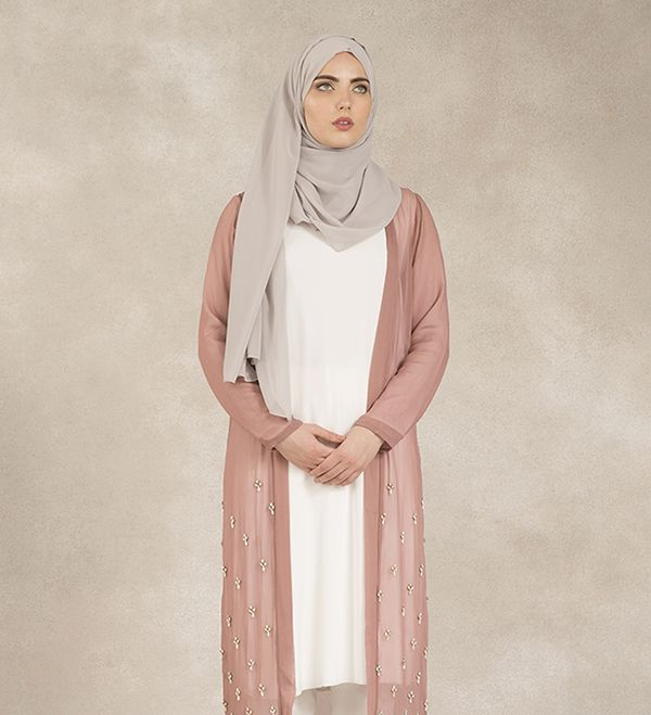 Rose Scattered Crystal Kimono - £100.00 : Inayah, Islamic Clothing & Fashion, Abayas, Jilbabs, Hijabs, Jalabiyas & Hijab Pins