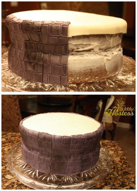 The Bubbly Hostess: Skylanders Birthday Party  How to make the Portal cake
