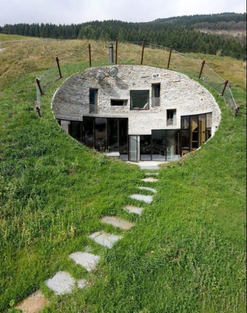 Underground Home Designs Swiss Mountain House Rocks