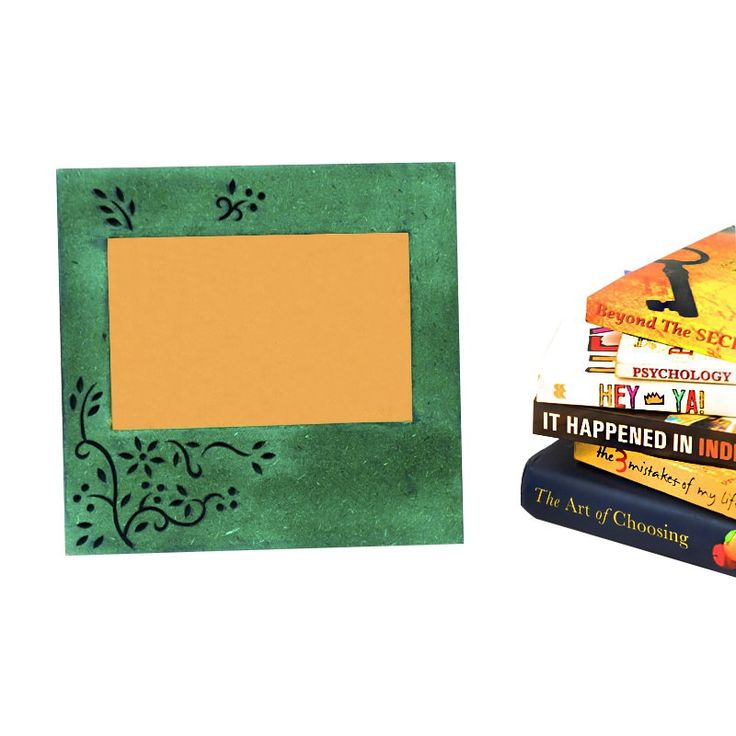 Photoframe With Tree Carving Green | #simple #Decor #PhotoFrames #simple, #Decor, #PhotoFrames,