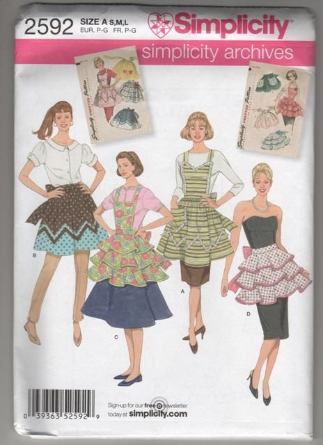 VintageInspired MidCentury Apron Pattern by CityCottage on Etsy, $4.92