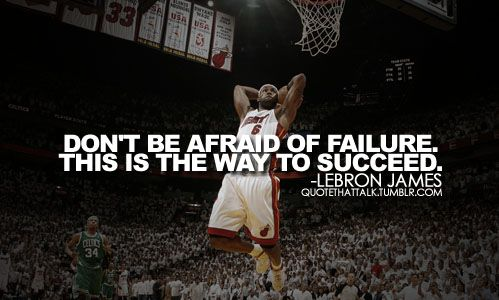 Lebron James knows a thing or two about success, and what failure is all about as well...  #quote #success #lebronjames
