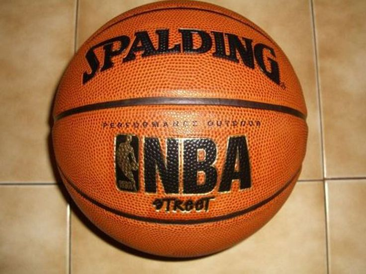 Street Basketball Ball 29.5 Inch Official Size Outdoor Indoor NBA Game Rubber #Spalding