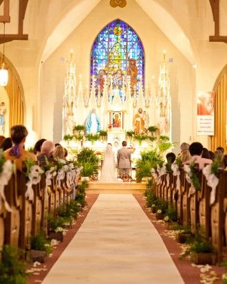 The couple wed with a full Catholic mass at St. Joseph's ...
