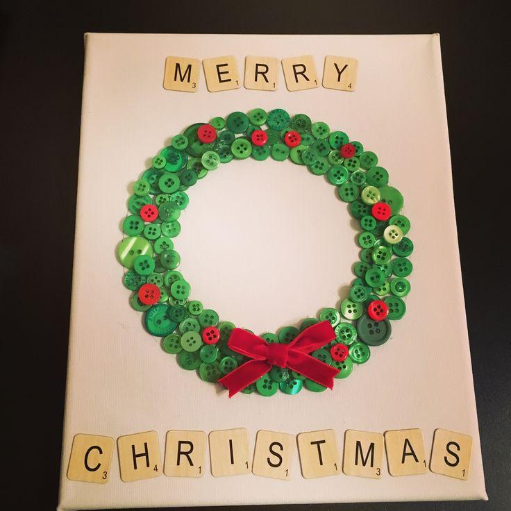 Christmas button art! #buttonart