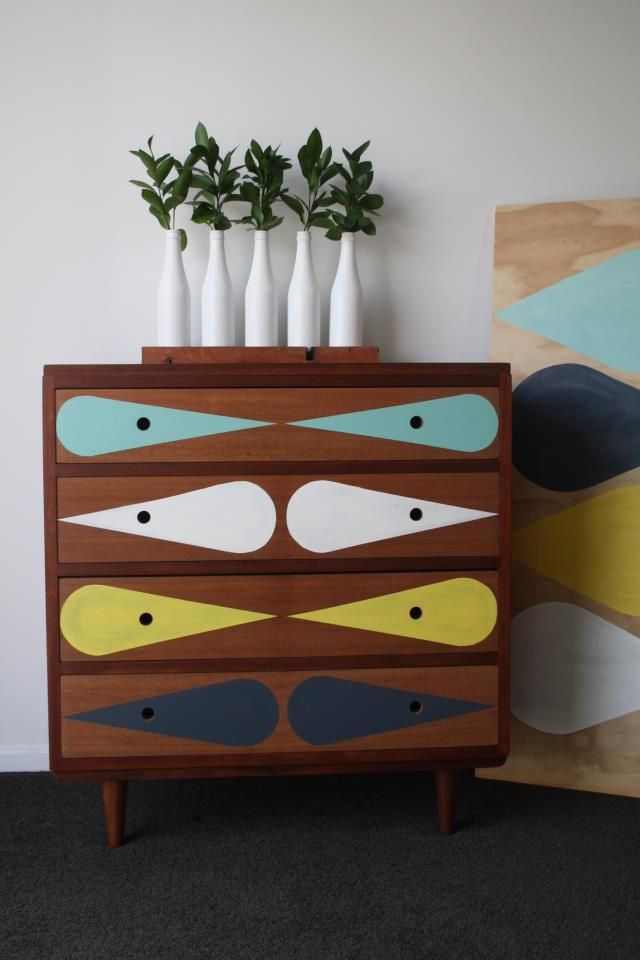 Upcycled Midcentury Mahogany Drawers By Emma Jayne Scott Of Draw 39 N In A