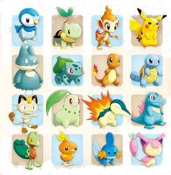 Les Pokémon de départ de Pokémon Donjon Mystère 2