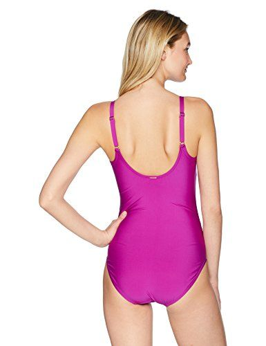 c139900d229 Calvin Klein Women's Solid Twist Over Shoulder One Piece Swimsuit Tummy  Control,#Solid,