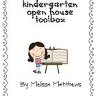 Kindergarten Open House Toolbox includes everything you need to host a fun