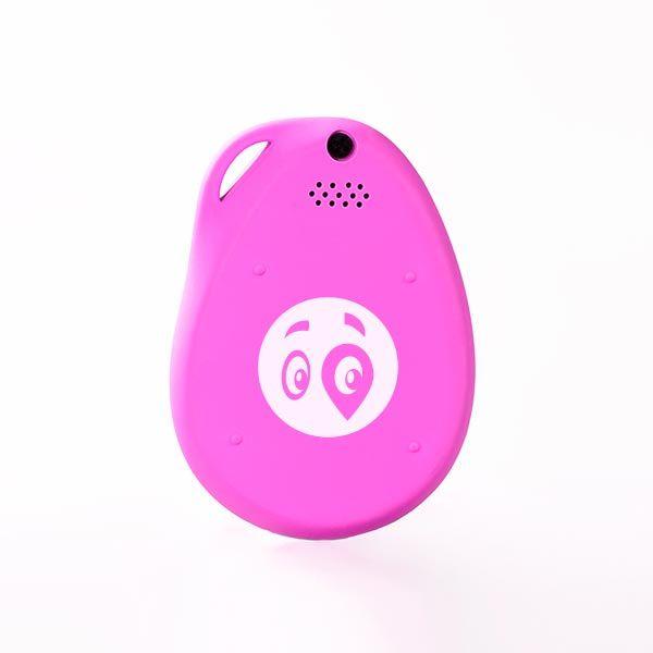 gubloos GPS Tracker - Pink back side with logo