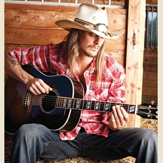 Kid Rock....love his attitude...he just don't give a f**k! He is who he is and that's that!