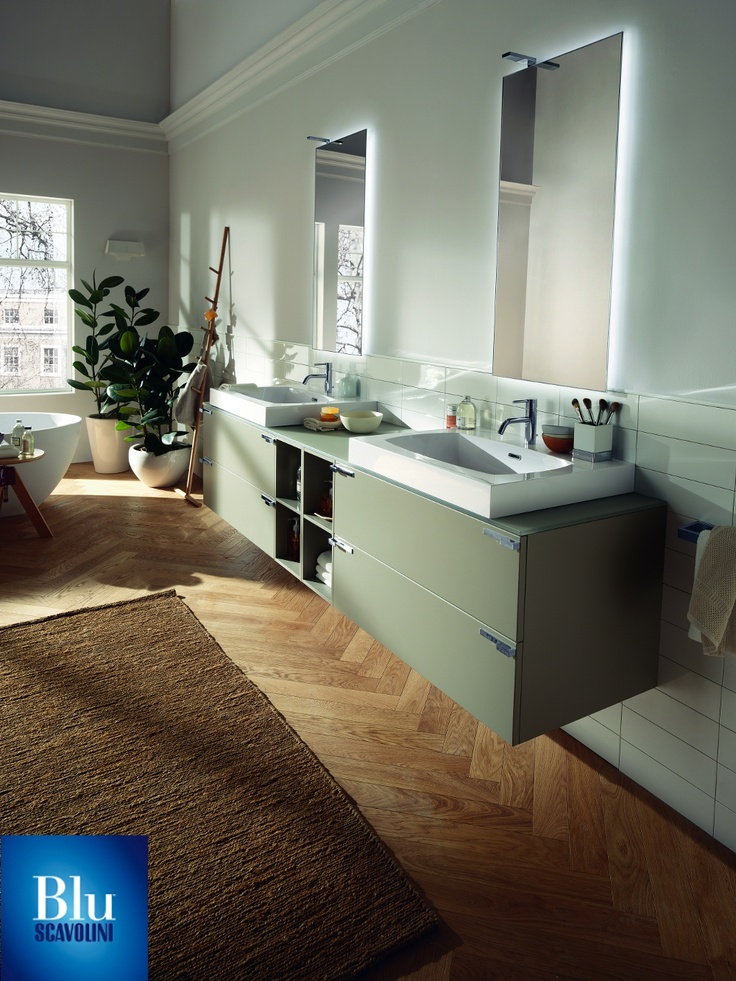 Aquo Collection. The #bathroom according to Scavolini. #BluScavolini