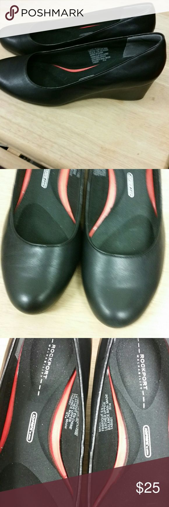 Rockport wedges Excellent condition! Rockport Shoes Wedges