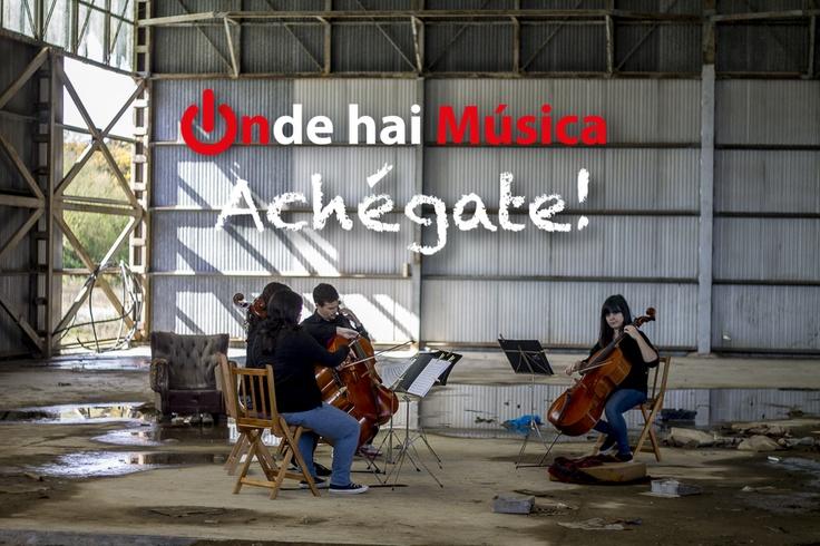 Soncello Quartet tocando Metallica nunha fábrica abandoada en Santiago de Compostela.  Fotografía Xaime Cortizo.  ondehaimusica.galiciasustentable.org