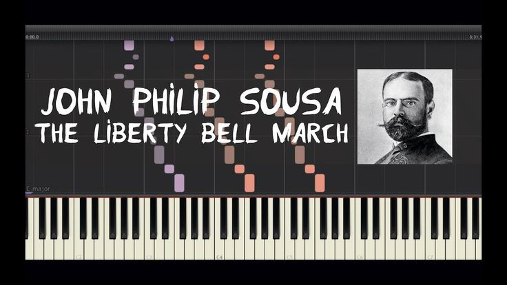 John Philip Sousa - The Liberty Bell March - Piano Tutorial by Amadeus (...