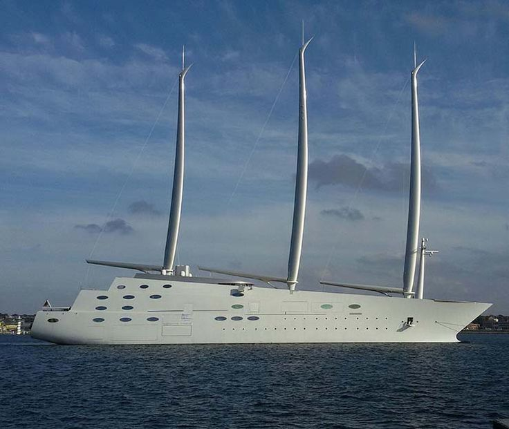 Price: $450 million Size: 473 ft Accommodation Numbers: 54 crew Owner: Andrey Melnichenko Features: Variable-speed hybrid powerplant propulsion w/ 5-bladed controllable-pitch lineshaft twinscrew + storage space for small boats underneath