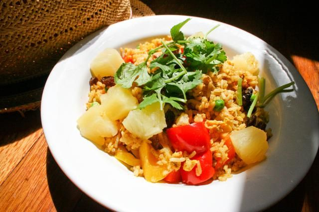 This Thai curry flavored rice is so simple to make and so delicious! It can be made as a side dish, or add shrimp or chicken for a full course meal.