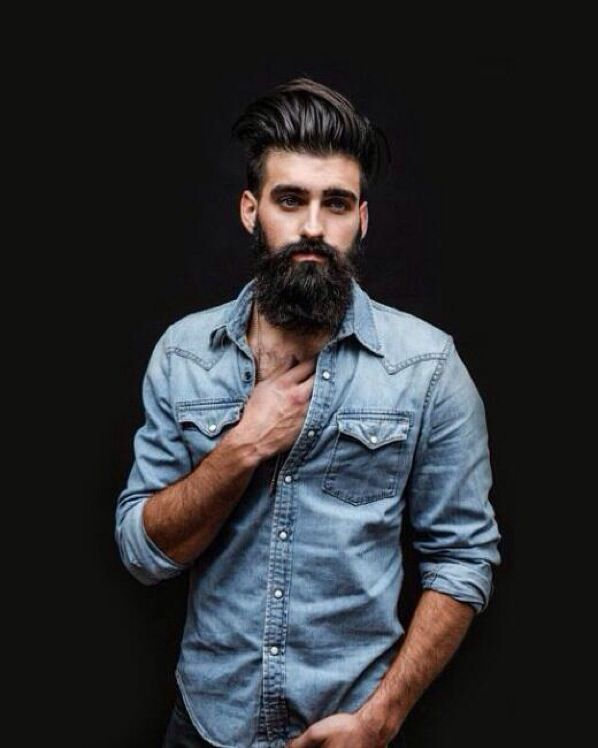 how to style hipster hair for guys denim shirt beard hairstyle fashion 5525 | 559ae6d95f28d9be0fd4e21799fda25d