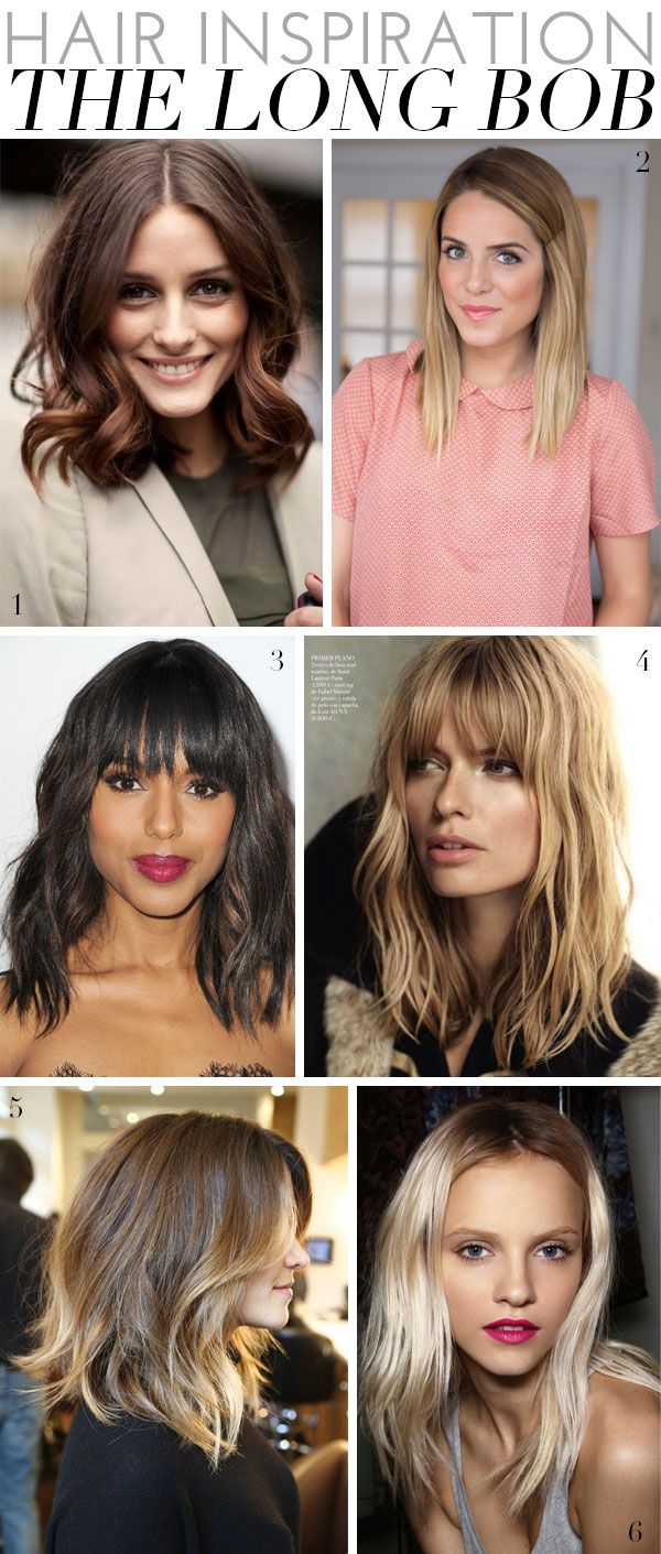 Our Current Hair Inspiration? The Long Bob - perfect for any hair type!