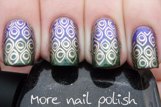 Peacock inspired gradientPeacocks Inspiration, Nails Art, Polish Nails, Inspiration Nails, Gnarly Nails, Funky Nails, Inspiration Gradient, Nails Polish, Peacocks Nails