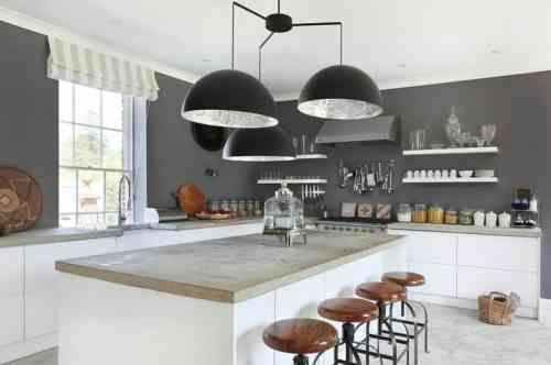 tendance de cuisine blanche et grise