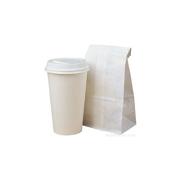Paper Coffee Cup and Bag (2 335 UAH) ❤ liked on Polyvore featuring food, fillers, food and drink, drinks, accessories, backgrounds, embellishments, details, text and phrase