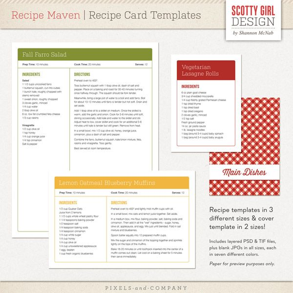 24 best images about RECIPIE TEMPLATES on Pinterest Family - free recipe card templates for microsoft word