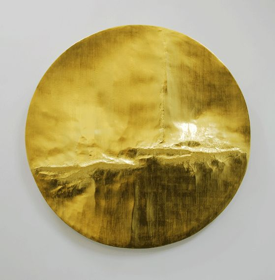 Beaux Arts Gallery - Luke Frost and Simon Allen Simon Allen   Cirrus I   2014   22ct Gold Leaf on Carved Wood   Diameter: 45 inches (112cm)