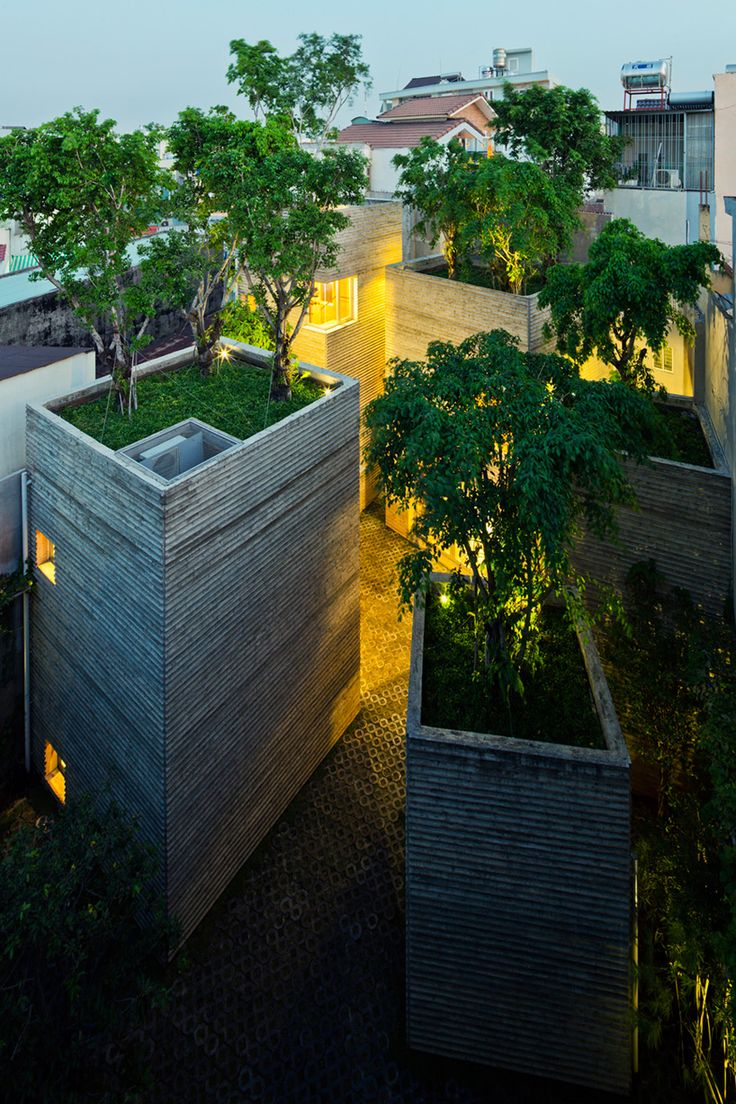 vo trong nghia architects stacks house for trees in vietnam - designboom | architecture & design magazine