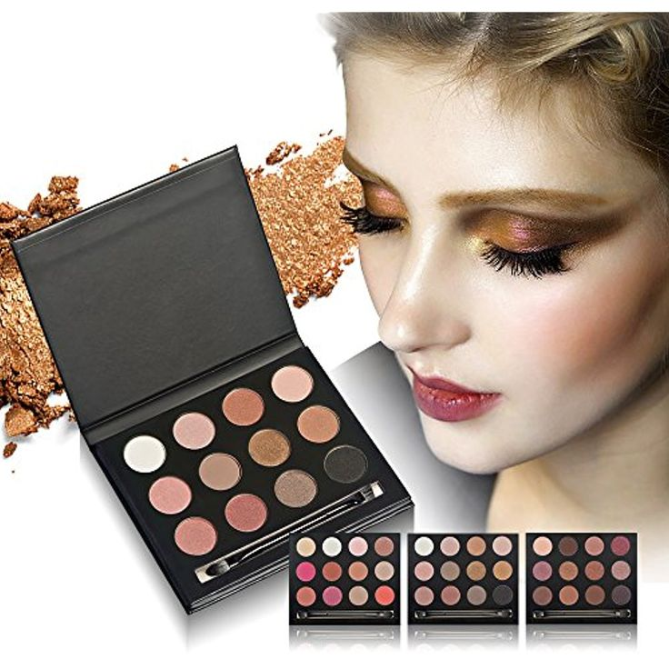 Ladygo Best Pro Eyeshadow Palette Makeup Matte/Shimmer Glitter 12 Colors Eye Shadows Warm Natural Bronze Smoky Highly Pigmented Professional Nudes Cosmetic Set Kit 0.5 Oz.-2 #Eyeshadow