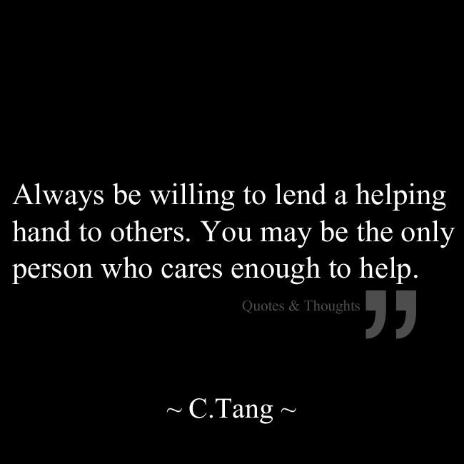 willingness to help others essay
