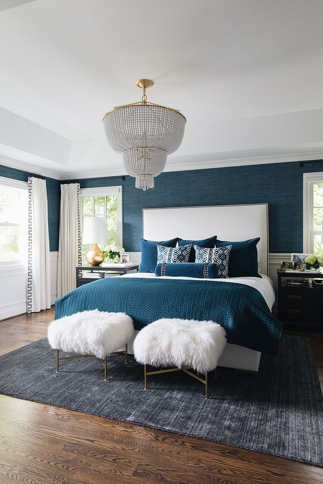 Royal Blue Bedroom Color Scheme In 2019 Colors