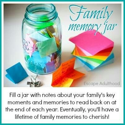 Start a memory jar.: Buckets Lists, Memories Jars, Lifehacks, New Years Eve, Things, Life Hacks, Great Ideas, Families, Diy
