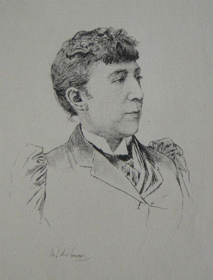 Abbema Louise,1894 - Adolphe Lalauze - Eau forte;