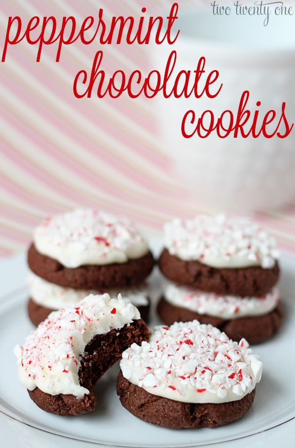 Delicious and easy to make peppermint chocolate cookies!