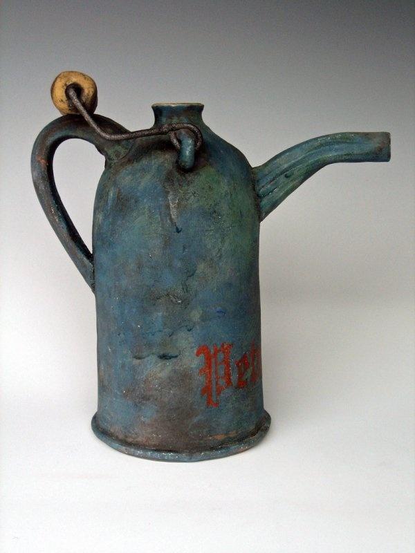 Vintage British Petroleum Can by Liz Crain Ceramics